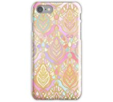 Rosy Opalescent Art Deco Pattern iPhone Case/Skin