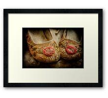 in little girls shoes Framed Print