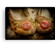 in little girls shoes Canvas Print