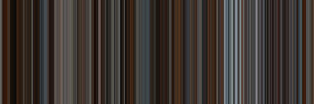 Moviebarcode: Inception (2010) [Simplified Colors] by moviebarcode