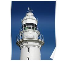 White Crown On Blue - Low Head Lighthouse Poster