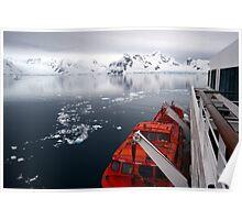 Landing in Antarctica Poster