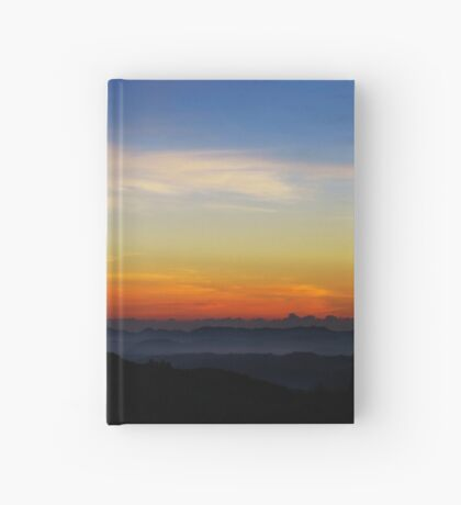 Colorful sunrise over the hills of Horton Plains Hardcover Journal