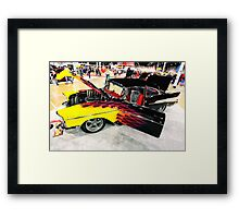 flame job Framed Print