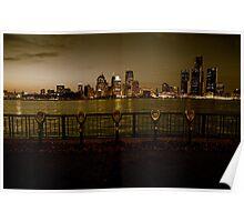 Detroit Riverfront Poster