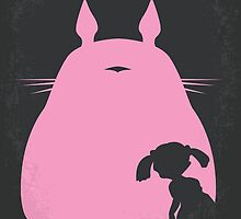 No290 My My Neighbor Totoro minimal movie poster by JinYong