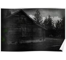 Ghostly Cabin Poster