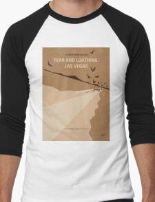 No293 My Fear and loathing Las vegas minimal movie poster Men's Baseball ¾ T-Shirt