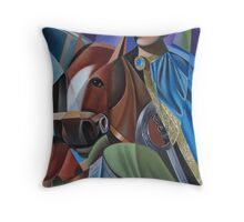 CAVALIERE CON MANTELLO Throw Pillow