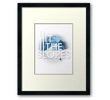 Hit The Slopes Framed Print