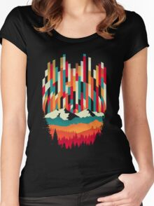 Sunset in Vertical  Women's Fitted Scoop T-Shirt