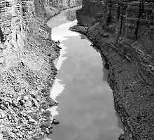 Grand Canyon Colorado River Shadows by Pixie-Atelier