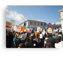 Bahamas Protest Canvas Print