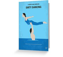 No298 My Dirty Dancing minimal movie poster Greeting Card