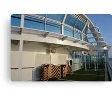 Deck of cruise ship Canvas Print