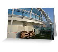 Deck of cruise ship Greeting Card