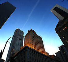 NYC buildings at dusk  by NickSpiros