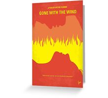 No299 My Gone With the Wind minimal movie poster Greeting Card