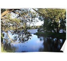 Calm river- Quebec Poster