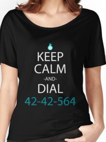 soul eater keep calm and dial 42-42-564 anime manga shirt Women's Relaxed Fit T-Shirt
