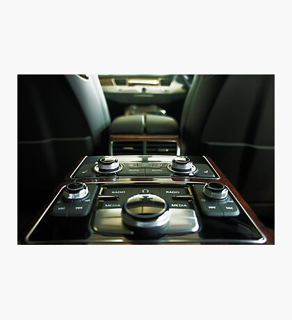 Audi A8L Interior Rear Photographic Print