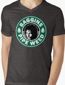 Baggins Pipeweed Mens V-Neck T-Shirt