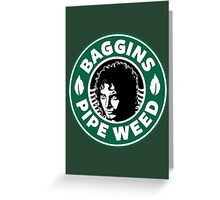 Baggins Pipeweed Greeting Card
