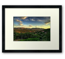 Sardinia - Sunset at Porto Istana, Costa Smeralda Framed Print