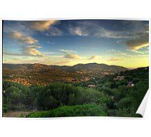 Sardinia - Sunset at Porto Istana, Costa Smeralda Poster