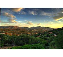 Sardinia - Sunset at Porto Istana, Costa Smeralda Photographic Print