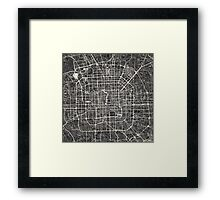 Beijing map Framed Print