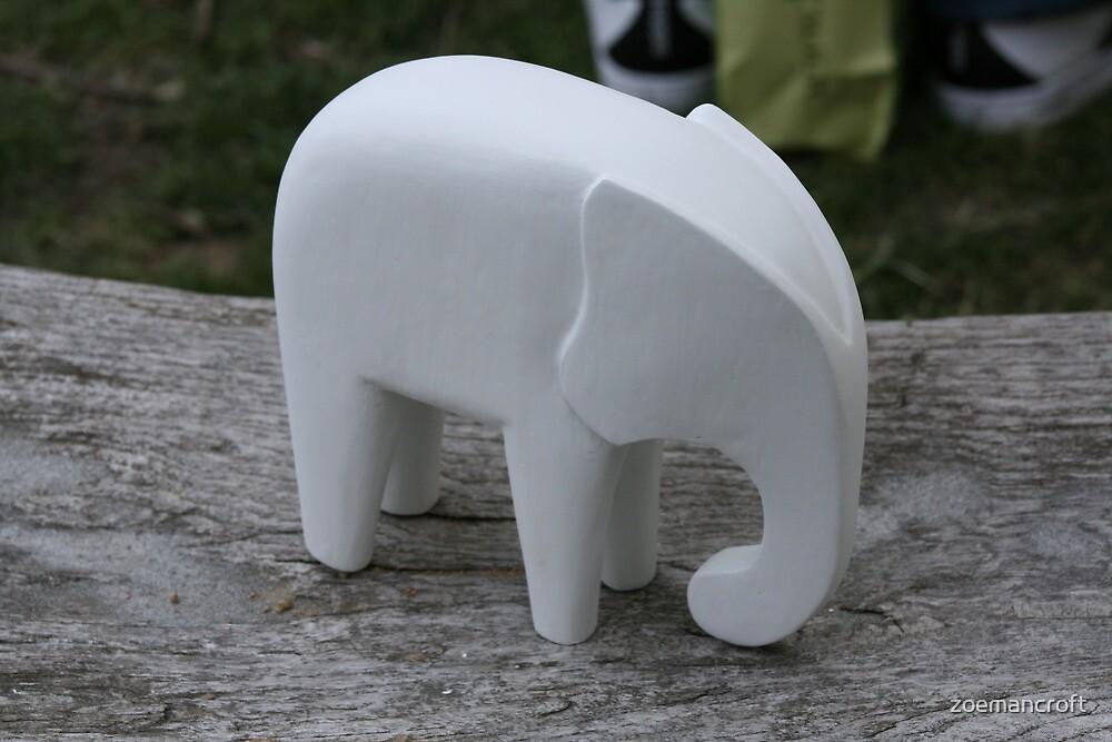 A white Elephant! by zoemancroft