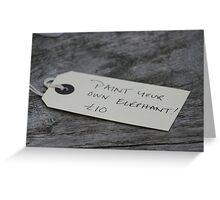 Elephant art! Greeting Card