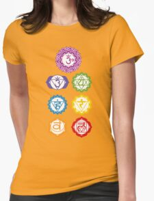 7 Chakras  Womens Fitted T-Shirt