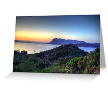 Sardinia - Sunset at Capo Coda Cavallo Greeting Card