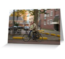 Amsterdam Commuter Greeting Card