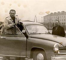 My father in front Stefan Zeromski Hospital . Nowa Huta's Municipal Hospital . Anno Domini 1958 . views (105) dziękuję bardzo ! by © Andrzej Goszcz,M.D. Ph.D