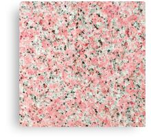 Elegant chic pink black marble modern pattern Canvas Print