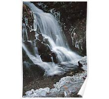 WATERFALL,WINTER Poster