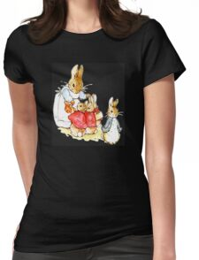 Peter Rabbit and Family Womens Fitted T-Shirt