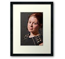 Model Looks Framed Print