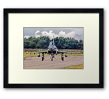 Typhoon taxying in ahead of the storm Framed Print