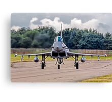 Typhoon taxying in ahead of the storm Canvas Print