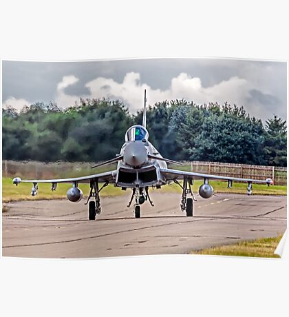 Typhoon taxying in ahead of the storm Poster