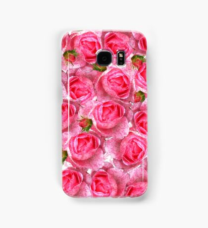 Chic girly pink vintage roses floral pattern  Samsung Galaxy Case/Skin