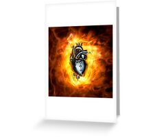Heavy metal heart Greeting Card