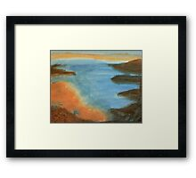 Heading Out From the Coves, watercolor Framed Print