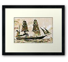 The Arctic Store Ship Valorous, Arctic expeditions of 1875-6  Framed Print