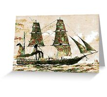 The Arctic Store Ship Valorous, Arctic expeditions of 1875-6  Greeting Card
