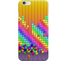 Fallen cubes 3D graphics design iPhone Case/Skin